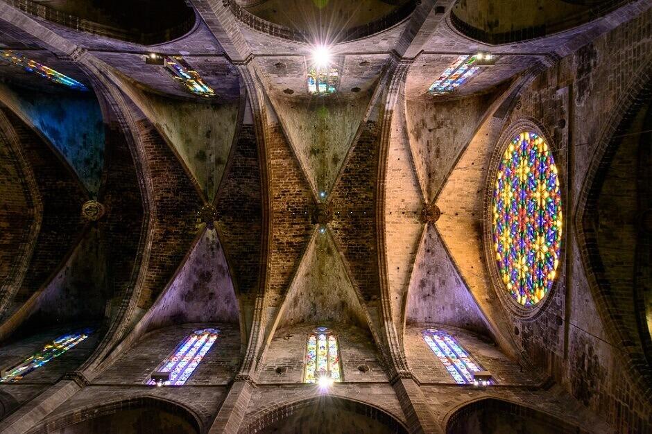Vue de la rosace de la cathédrale de Majorque.