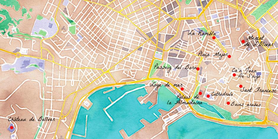 Carte de Palma de Majorque.