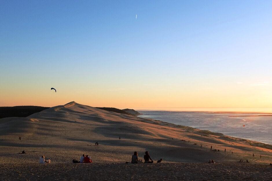 Au sommet de la dune du Pilat.