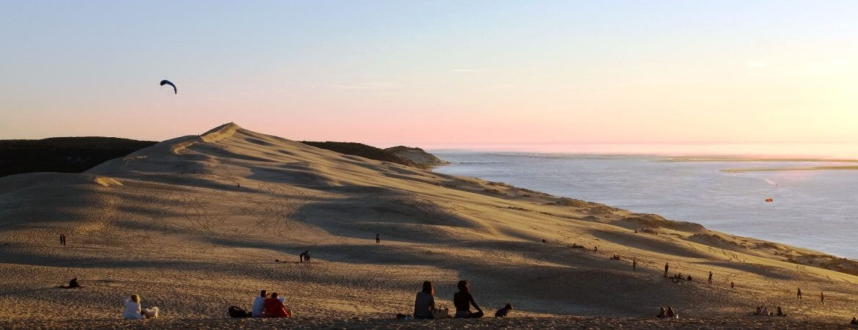 Vue de la plage de la dune du Pilat.