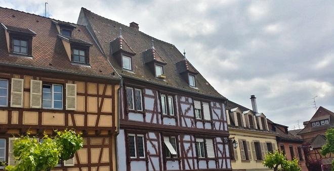 Maisons à colombages à Colmar en Alsace.