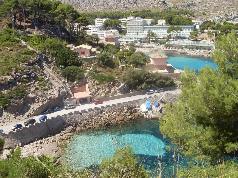 Vue de Cala San Vincenç à Majorque.
