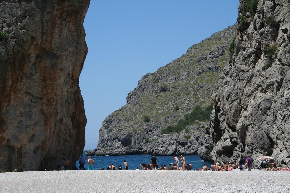 Vue de la plage de Sa Calobra à Majorque.