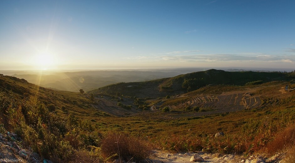Vue de la Serra de Monchique au Portugal.