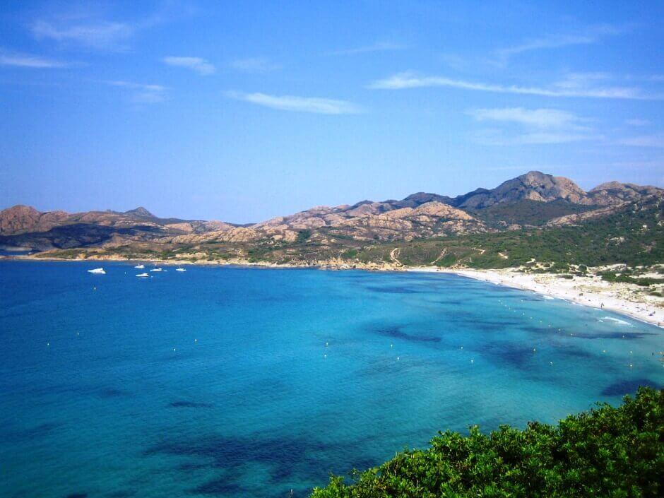 Plage de l'Ostriconi en Corse.