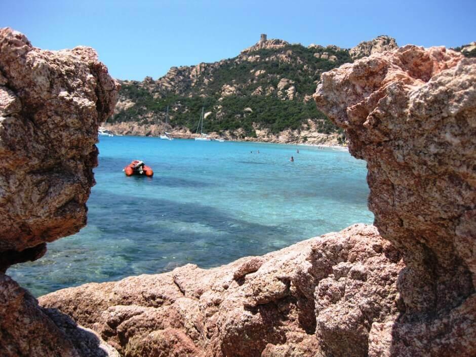 La plage de Roccapina en Corse.