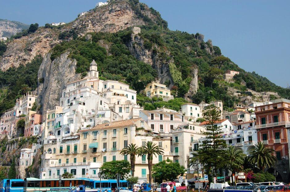 Vue d'Amalfi en Italie.