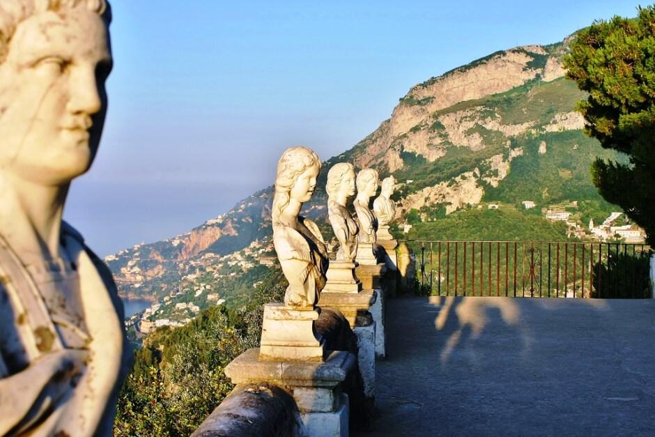 Vue du belvédère de Ravello en Italie.