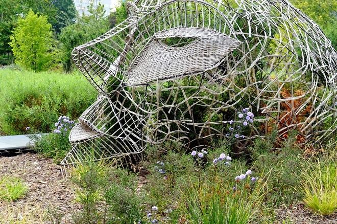 Vue d'un jardin à Lille.