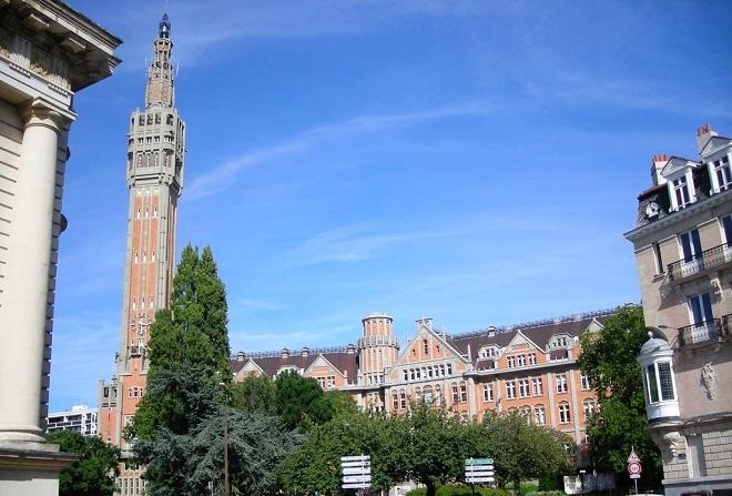 Vue du beffroi de la mairie de Lille.