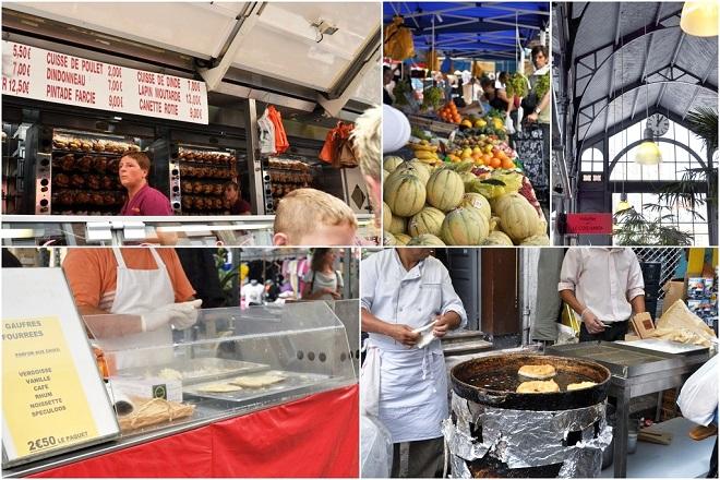 Plusieurs vues du marché de Wazemmes à Lille.