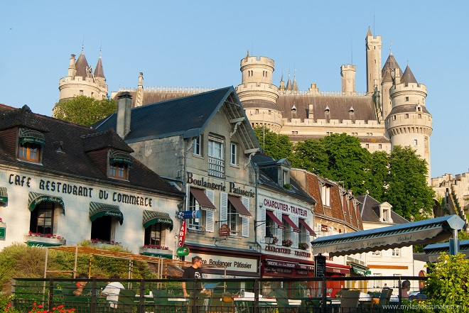Vue du château de Pierrefonds dans l'Oise.