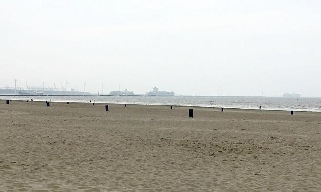 Vue de la plage de Hoek van Holland près de Rotterdam.