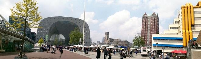 Vue du centre-ville de Rotterdam.