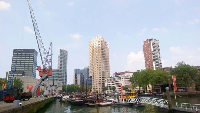 Vue de l'ancien port de Rotterdam.