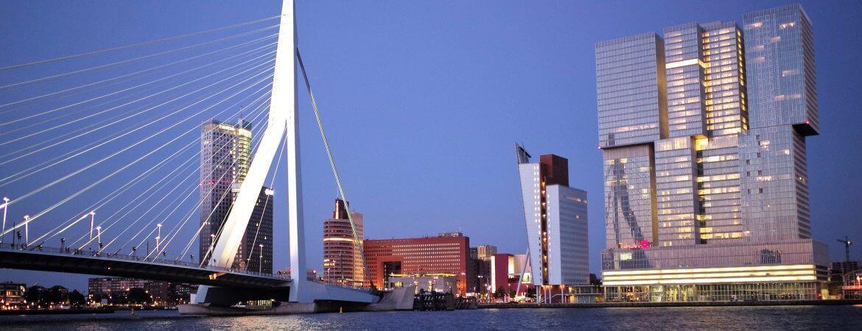 Vue de Rotterdam aux Pays-Bas.