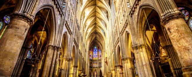 Intérieur de la cathédrale de Metz.
