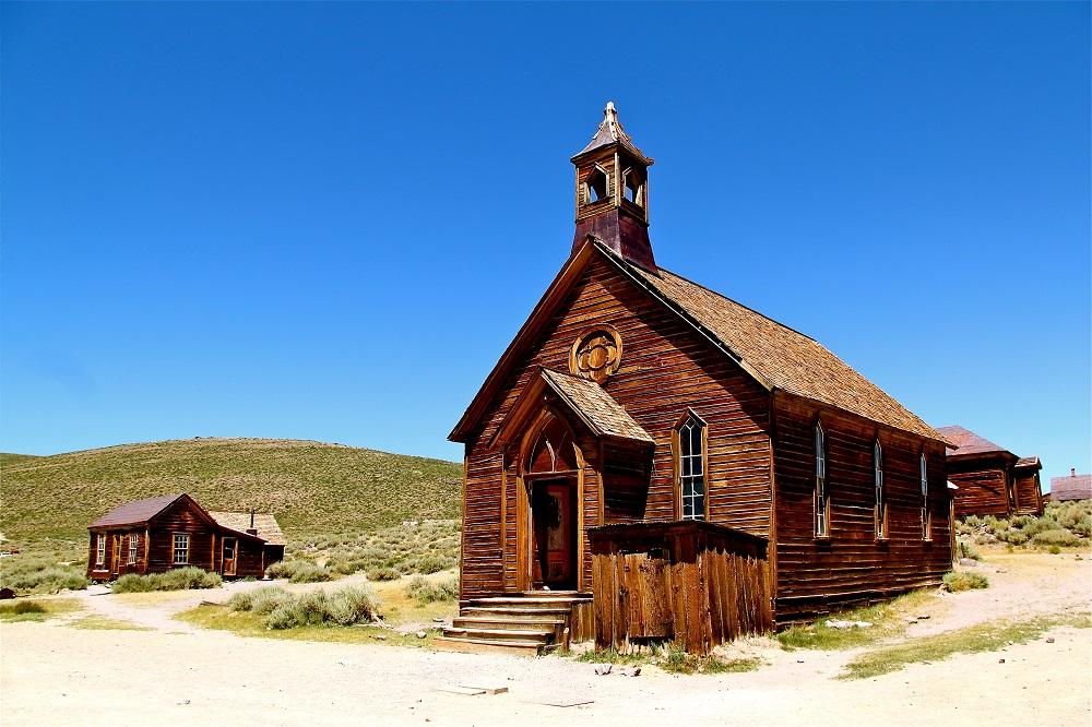 Vue de Bodie en Californie USA.