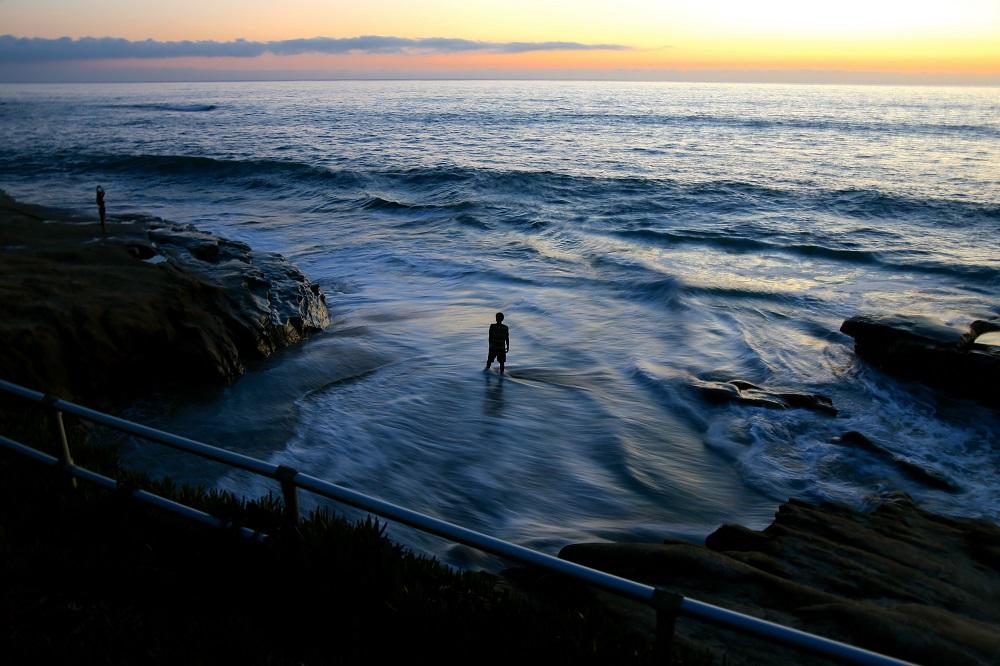 Coucher de soleil en Californie USA.