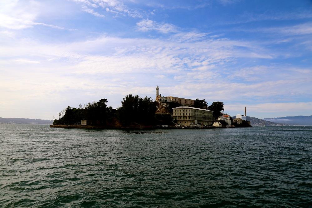 Vue de la prison d'Alcatraz à San Francisco (Californie, USA).