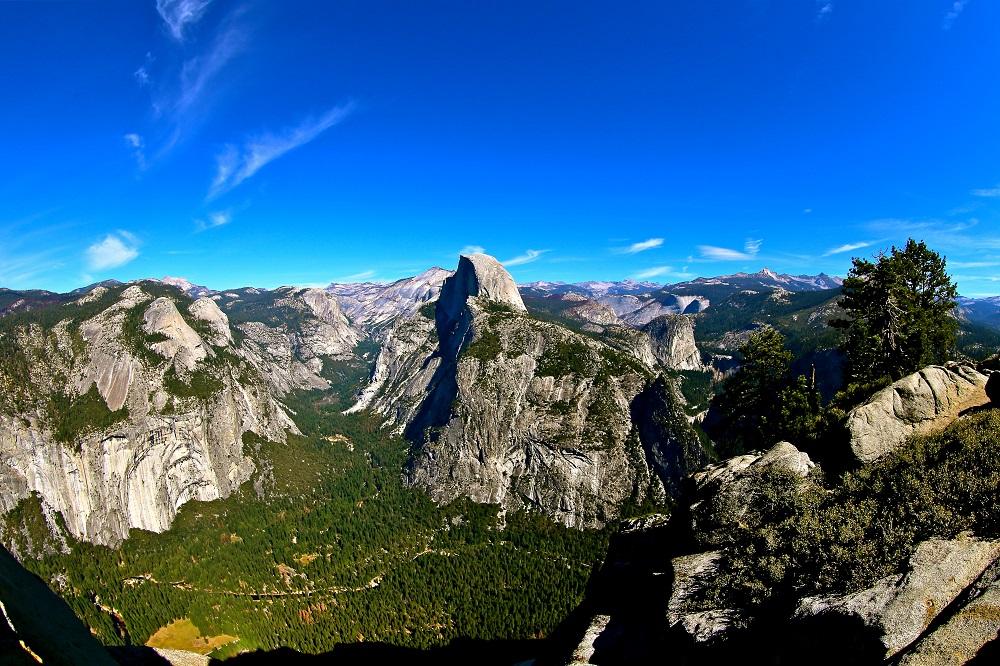 Vue du parc national de Yosemite en Californie USA.