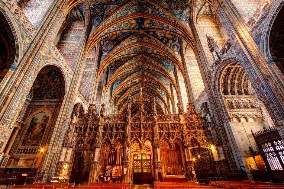 Vue intérieure de la cathédrale d'Albi.