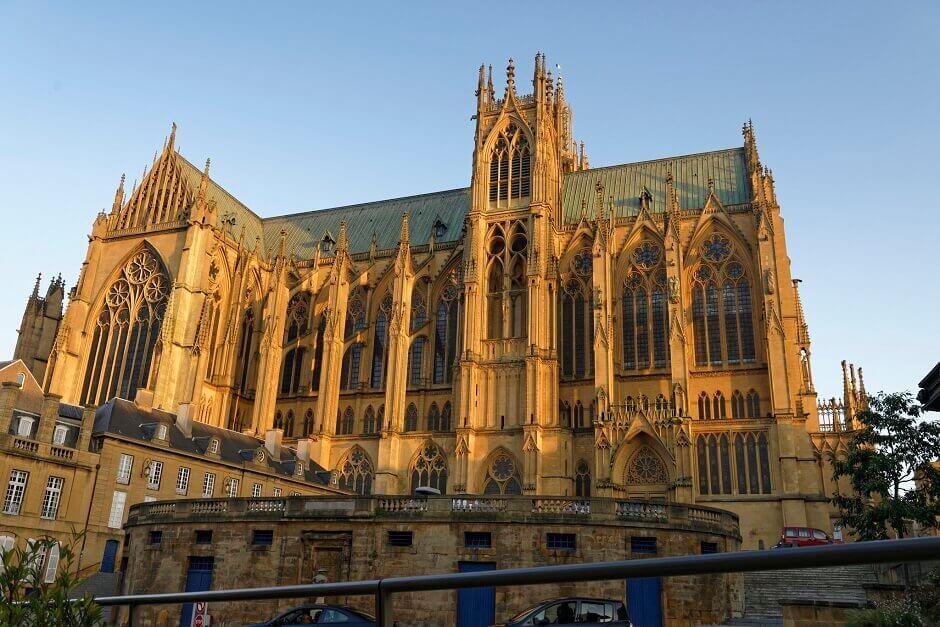 Vue sur la cathédrale de Metz.