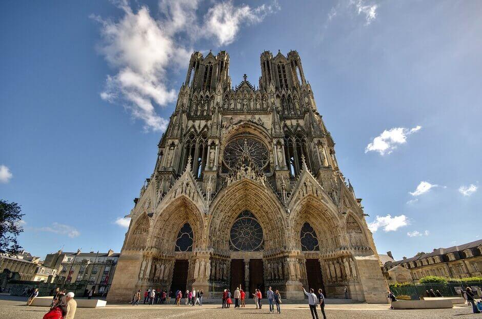 Vue de la cathédrale de Reims.