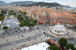 Vue de la place Masséna à Nice.