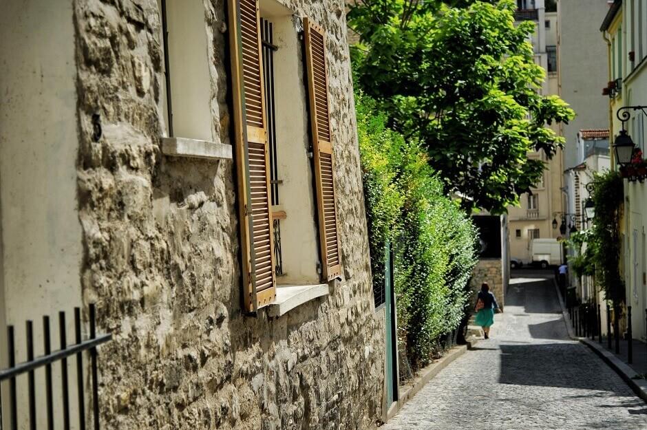 Une rue à la Butte aux Cailles à Paris.