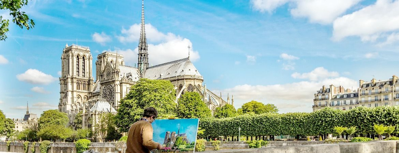 Vue de la cathédrale Notre-Dame de Paris.