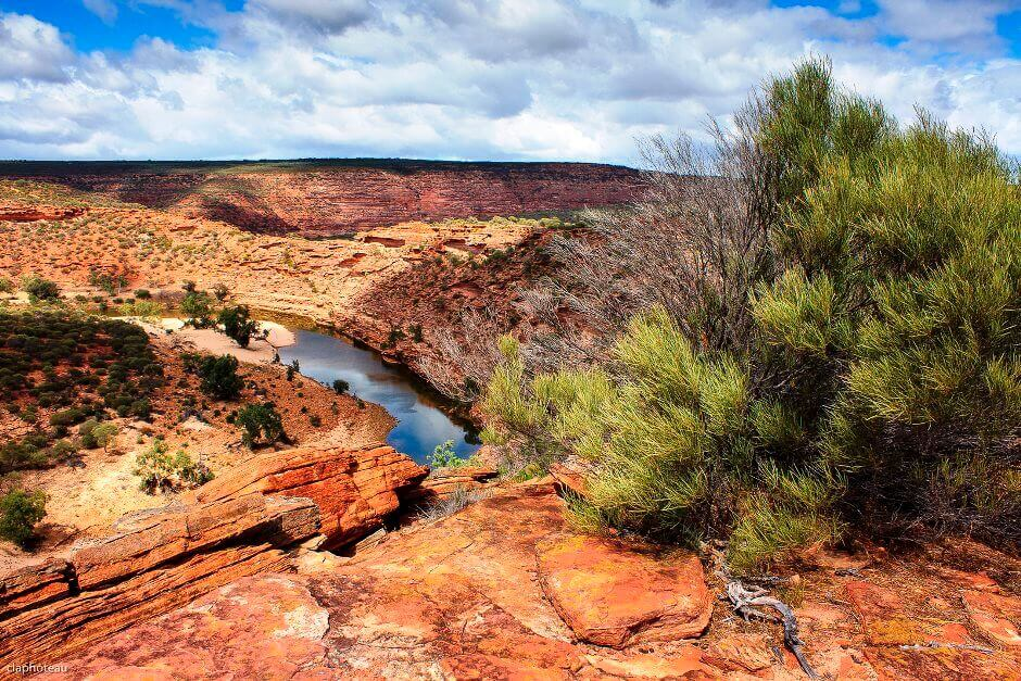 Vue du parc naturel de Kalbarri en Australie.
