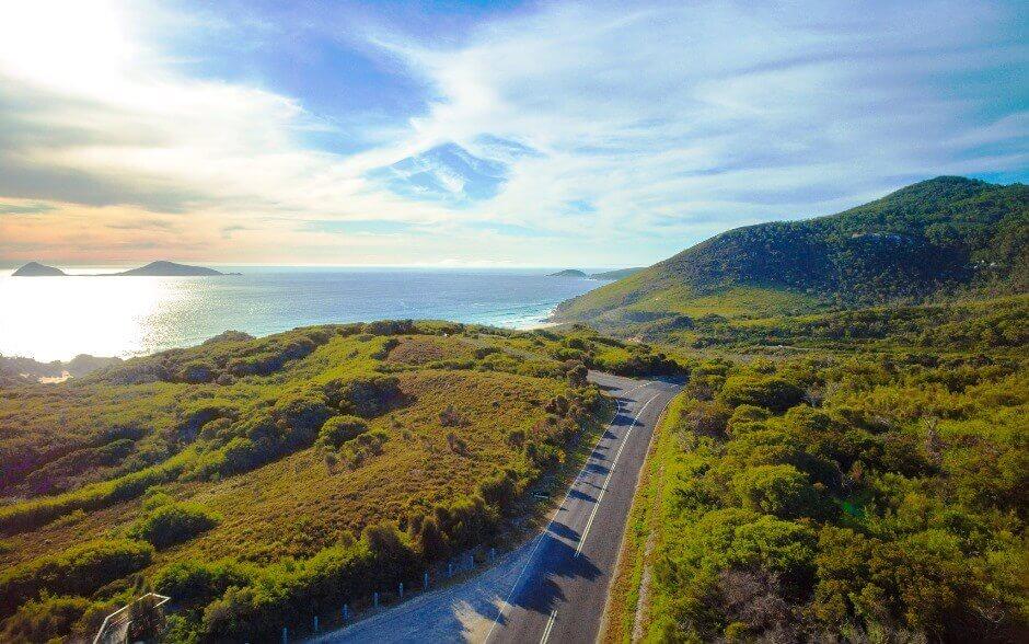 Vue du parc national de Wilsons Promontory en Australie.