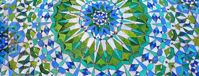 Mosaique dans une mosquée marocaine.