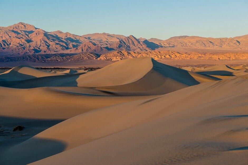 Vue d'un paysage désertique aux USA.
