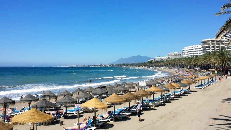 Une plage en Andalousie.