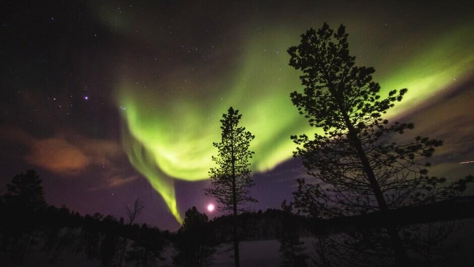 Une aurore boréale en Norvège.