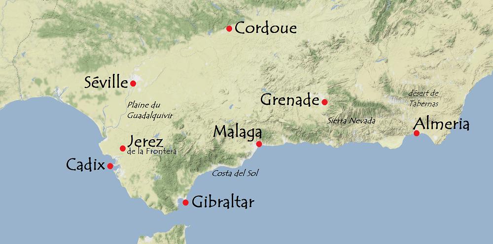 Carte Andalousie Sud.Preparer Son Voyage En Andalousie Carigami Le Magazine