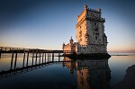 Vue de la tour de Belem à Lisbonne