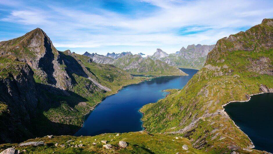 Paysage des îles Lofoten en Norvège.