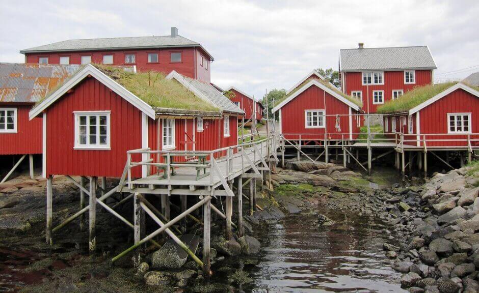 Une cabane de pêcheur aux îles Lofoten.