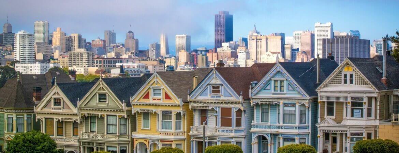Maisons colorées à San Francisco.