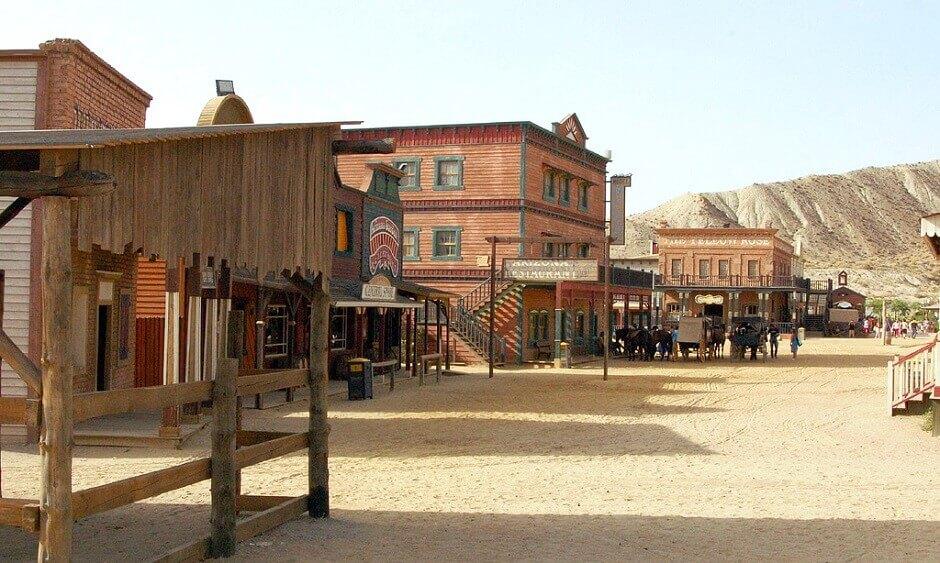 Tournage de western en Andalousie.