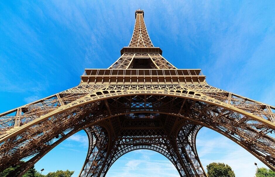 Vue de la Tour Eiffel à Paris.