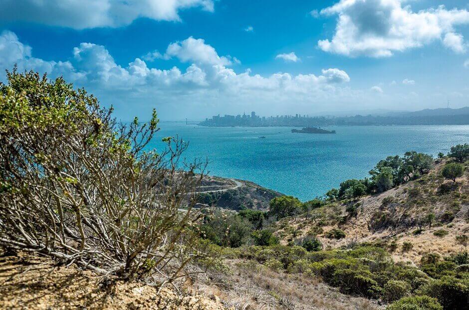 Vue de San Francisco depuis Angel Island.