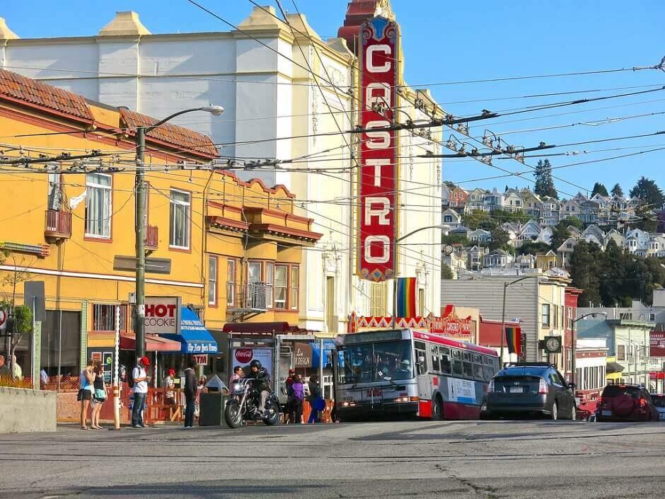 Façade d'un cinéma à San Francisco.