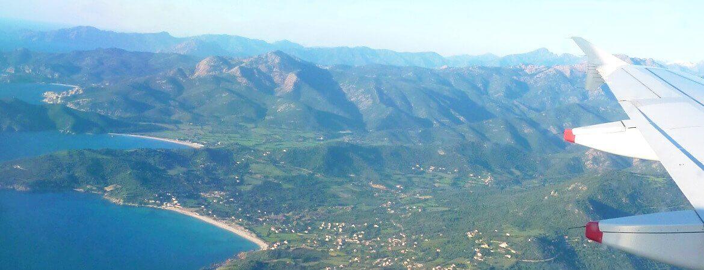 La Corse vue d'avion.