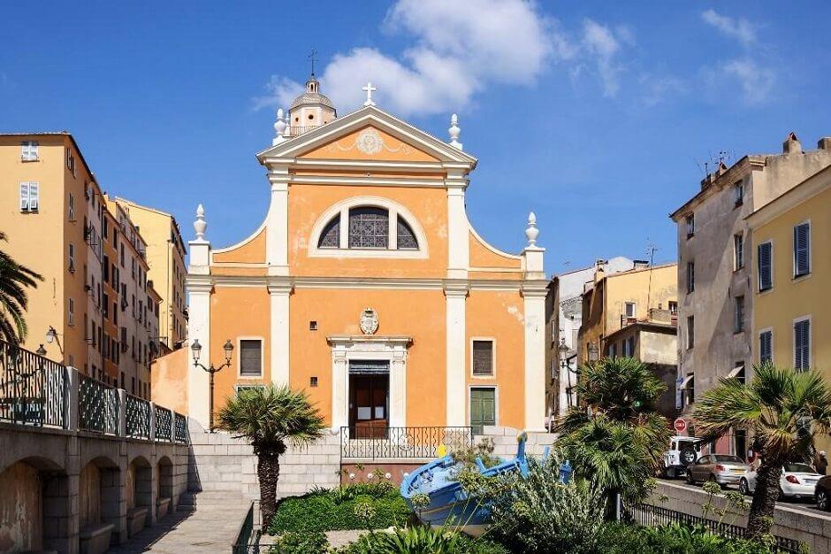 Cathédrale d'Ajaccio en Corse.