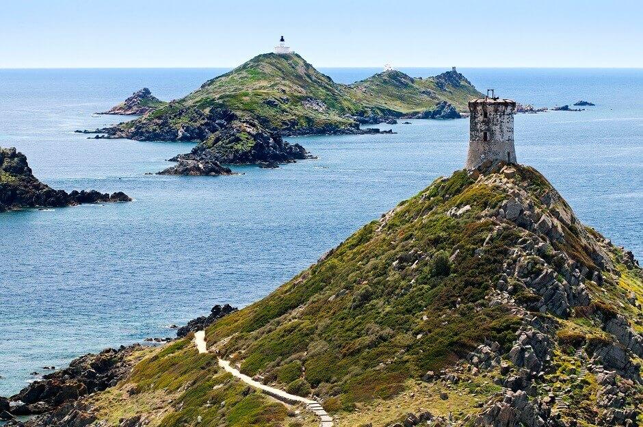 Les îles Sanguinaires près d'Ajaccio en Corse.