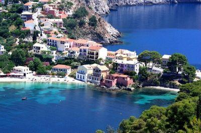Vue de l'île grecque de Céphalonie.